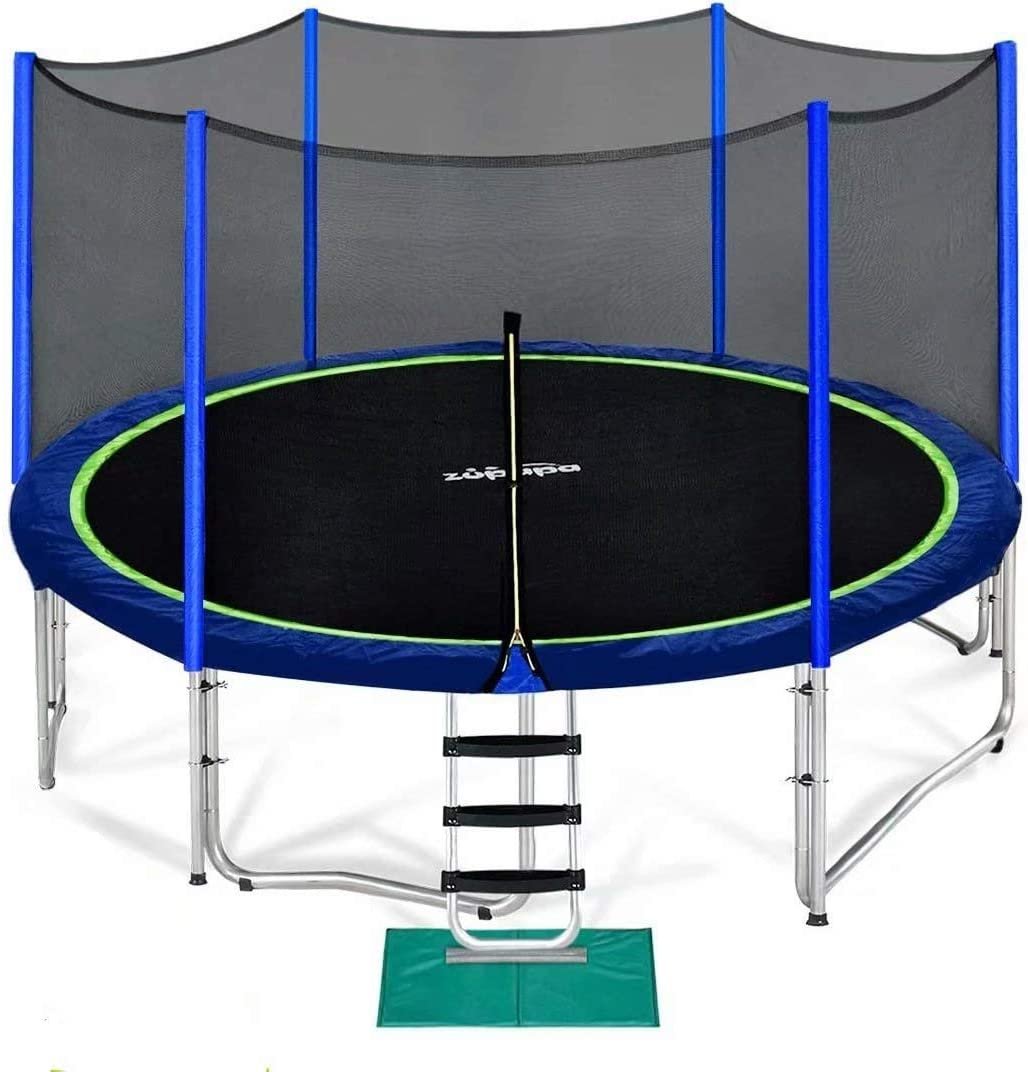 Zupapa 14 FT Trampoline for Kids, Adults with Safety Enclosure Net